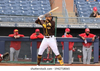 Fernando,Tatis JR,M infielder for the San Diego Padres at Peoria Sports Complex in Peoria,AZUSA March 23,2021.