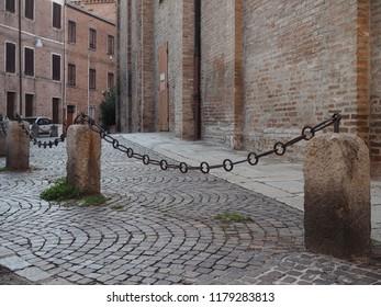 Ferrara, Italy. Churchyard of Santa Maria Nuova.