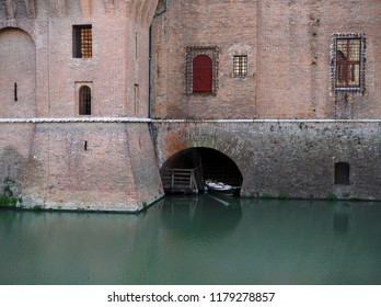 Ferrara, Italy. Este castle, the moat.
