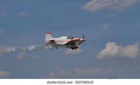 Ferrara Italy JUNE, 27, 2021 Corby CJ-1 Starlet single seat, amateur built airplane of the 1960s
