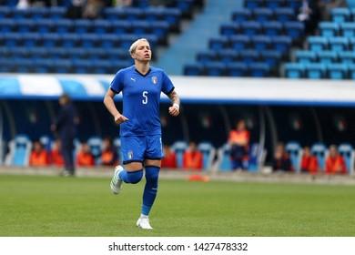 Ferrara, Italy - May 29,2019.  International Friendly match  Italy Women Vs. Switzerland Women. Elena Linari of Italy Women .
