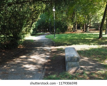 Ferrara, Italy. Parco Massari, the main public park of the town.