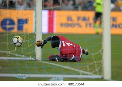 Ferrara Italy, September 23, 2017: Alfred Gomis of SPAL in action during football match serie A League 2017 between SPAL vs SSC NAPOLI at San Paolo Mazza Stadium.