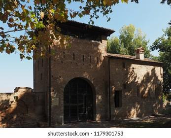 Ferrara, Italy. September 9, 2018. Porta degli Angeli, sixteenth century door of the city.
