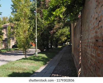 Ferrara, Italy. September 9, 2018. Corso Ercole I d'Este, Renaissance street.
