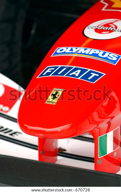 Ferrari F1 Nose Cone Transportation Stock Image 670728