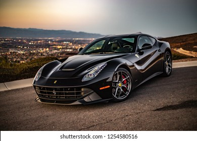 Ferrari F12berlinetta Lowkey Captures Las Vegas, Nevada / United States - November 23 2018