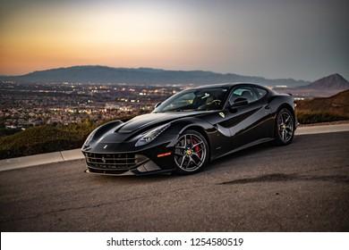 Ferrari F12berlinetta Lowkey Captures Las Vegas, Nevada / United States - November 23 2018