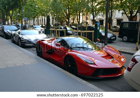 Ferrari La Ferrari Ferrari F 70 Parked Street Stock Photo Edit Now