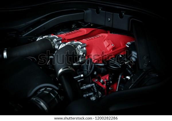 Ferrari Portofino Engine Stock Photo Edit Now 1200282286