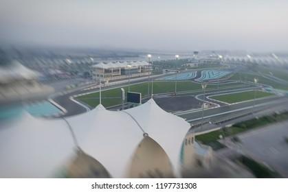 Ferrari World aerial view, Abu Dhabi