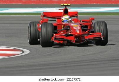 Ferrari's Brazilian F1 driver Felipe Massa