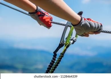 Ferrata - ready to start climbing