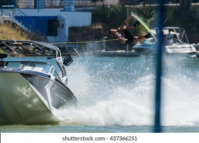 FERREIRA DO ZEZERE, PORTUGAL - JUNE 12, 2016: Rusty Malinoski (CAN) during the 2016 Nautique European Pro Am presented by Rockstar Energy.