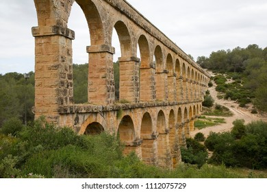 Ferreres Aqueduct, also known as the Pont del Diable, a Roman aqueduct built to supply water to the ancient city of Tarraco, today Tarragona in Catalonia, Spain.