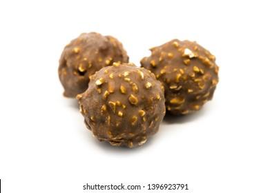 Ferrero Rocher premium chocolate sweets on white background. - Image