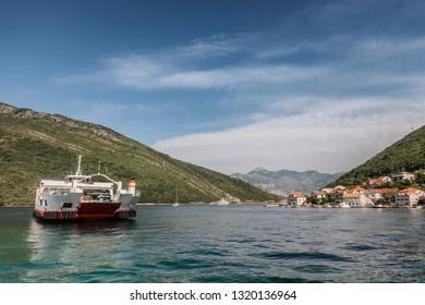 Ferries in Kotor Bay, Montenegro