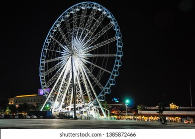 Ferries wheel in Asiathique in the city of Bangkok in Thailand