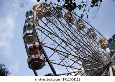 Ferris wheel in an amusement park in Ho Chi Minh city zoo Vietnam
