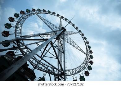 Ferris wheel background.