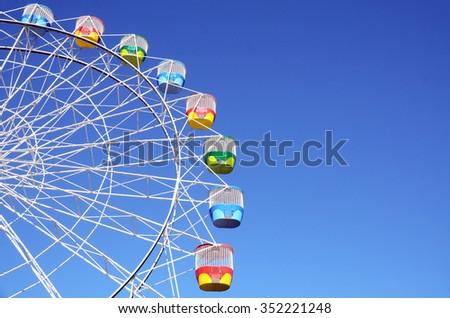 Ferris Wheel in blue