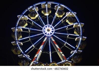 Ferris wheel by night in Croatia