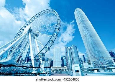 Ferris wheel in Hong Kong