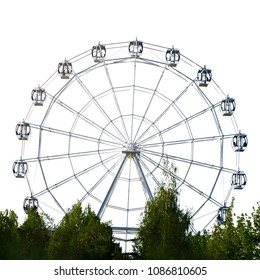 Ferris wheel isolated on white
