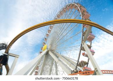Ferris wheel in Jersey shore