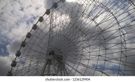 Ferris wheel in Krasnodar. Beautiful view.