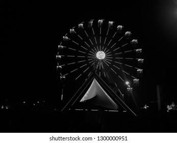 Ferris wheel at the Lollapalooza Brazil festival