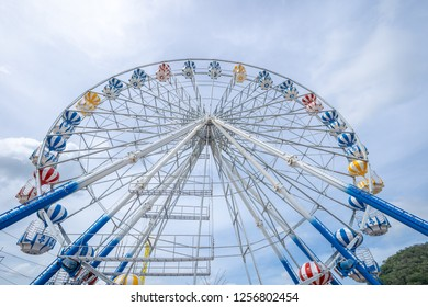 Ferris Wheel, low angle view of a big Ferris Wheel - Image.