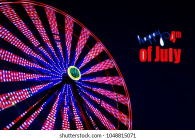 Ferris Wheel in Motion on the 4th of July