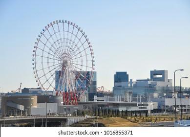 Ferris Wheel in Odaiba Tokyo, Japan.