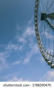 ferris wheel on a blue sky