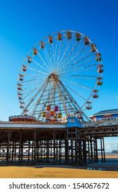 Ferris Wheel on Central Pier, Blackpool, Lancashire, UK