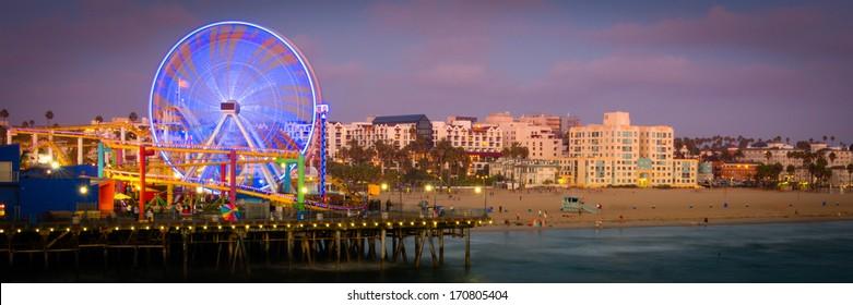 Ferris wheel on Santa Monica Pier, Santa Monica, Los Angeles County, California, USA