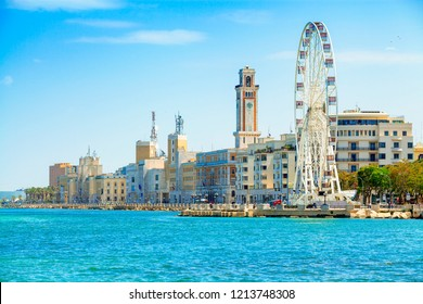 Ferris wheel on the waterfront of Bari, region of Apulia, Italy.