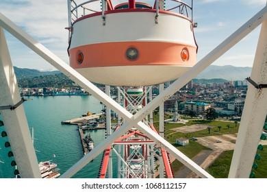 Ferris wheel in park. Batumi.Georgia