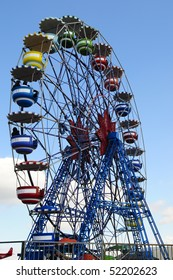 The ferris wheel in the park at Tibidabo, Barcelona.