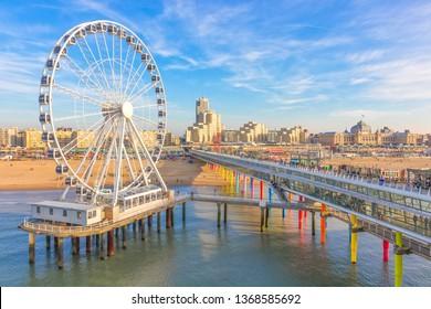 The Ferris Wheel & The Pier at Scheveningen, The Hague, The Netherlands