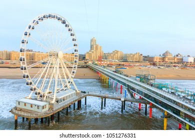 The Ferris Wheel & The Pier at Scheveningen in Netherlands