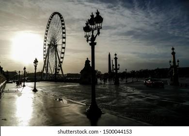 Ferris wheel in place de la Concorde, Photo image a Beautiful panoramic view of Paris Metropolitan City