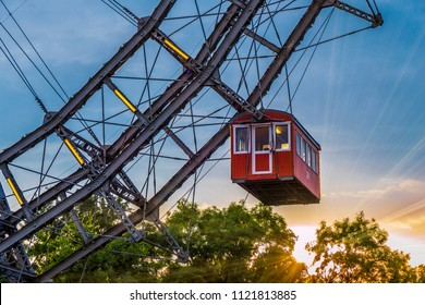 Ferris wheel in the Prater, amusement park, Prater, Vienna, Austria, Europe, 14. September 2015