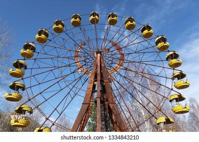 Ferris wheel of Pripyat ghost town 2019