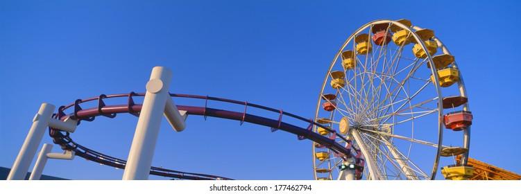 Ferris wheel at Santa Monica Pier, California