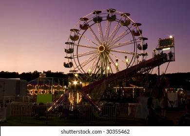 Ferris Wheel shot at twilight