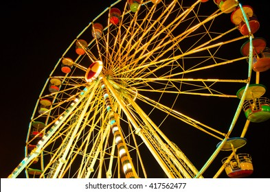 ferris wheel at Siam Canival at night