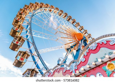 ferris wheel without people  at Oktoberfest in Munich