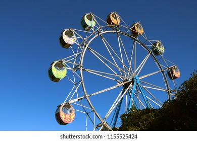 A Ferris Whell At a festival at the entrance on the new south wales central coast of Australia